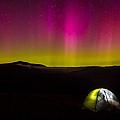 Camping Under Aurora Skies by Jeff Sinon