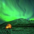 Camping Under Northern Lights by Piriya Photography