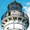 Cana Island Lighthouse Tower by David T Wilkinson
