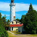 Cana Island Wi Lighthouse by Tommy Anderson