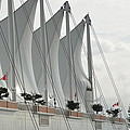 Canada Place Sails by Nicki Bennett