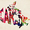 Canada Typographic Watercolor Map by Inspirowl Design