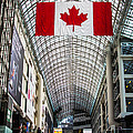 Canadian Flag Over Eaton Center by Joshua Van Lare