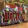 Canadian Pacific Train Wreck Graffiti by Adam Jewell