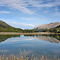 Canadian Rocky Mountains With Lake  by Terry Fleckney