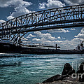 Canadian Tranfer Under Blue Water Bridges by Ronald Grogan