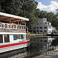 Canal Boat On The C And O Canal At Great Falls Tavern by William Kuta