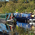 Canal Boats Passing by Gary Kenyon