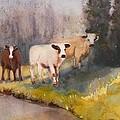 Canal Cows by Eldora Schober Larson