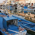 Canal In Grado With Fishing Boats by Ulrich Kunst And Bettina Scheidulin