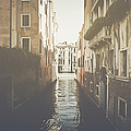 Canal In Venice Italy Applying Retro Instagram Style Filter by Brandon Bourdages