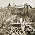 Canal Lock Under Construction, 1849 by Getty Research Institute