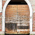 Canalside Weathered Door Venice Italy by Sally Rockefeller