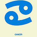 Cancer Zodiac Sign Blue by Naxart Studio