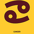 Cancer Zodiac Sign Brown by Naxart Studio