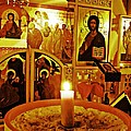 Candle And Icons by Sarah Loft