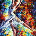 Candle Fire - Palette Knife Oil Painting On Canvas By Leonid Afremov by Leonid Afremov