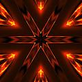 Candle Flame Kaleidoscope by Judi Suni Hall