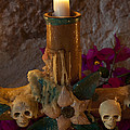 Candle On Day Of Dead Altar by John Shaw