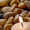 Candle On The Rocks by Olivier Le Queinec