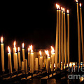 Candles In Church by Olivier Le Queinec