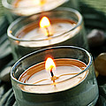 Candles On Green by Elena Elisseeva