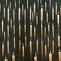 Candles On The Lake Udaipur India by Lincoln Seligman