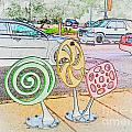 Candy Bike Rack In Colored Pencil by Kelly Awad