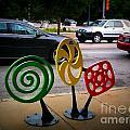 Candy Bike Rack In Lomoish by Kelly Awad