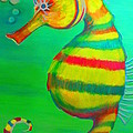 Candy Cane Seahorse by Elaine Haakenson