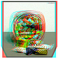 Candy Jar - Use Red-cyan Filtered 3d Glasses by Brian Wallace