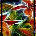 Candy Lily Fractal Triptych by Peter Piatt