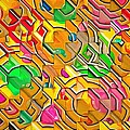 Candy - Lolly Pop Abstract  by L Wright