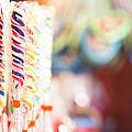 Candy Sticks At German Christmas Market by Susan Schmitz