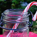 Candycane In Ball Jar by Kerri Mortenson