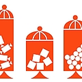 Canisters In Orange by Donna Mibus