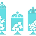 Canisters In Turquoise by Donna Mibus