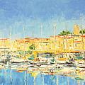 Cannes Harbour by Luke Karcz