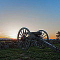 Cannon On Cemetery Ridge Gettysburg by William Ames