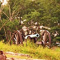 Cannon On Culps Hill by Eric  Schiabor