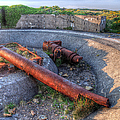 Cannon Remains From Ww2 by Gill Billington
