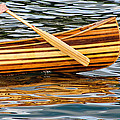 Canoe Lines And Reflections by Susie Peek