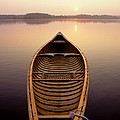 Canoe On A Lake by Novastock