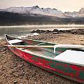 Canoe On Misty Fall Morning, Maligne by Ken Gillespie