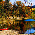 Canoe On The Gasconade River by Steve Karol