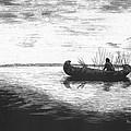 Canoe Silhouette by Lawrence Tripoli