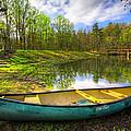 Canoeing At The Lake by Debra and Dave Vanderlaan