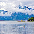 Canoeing In Colter Bay In Grand Teton National Park-wyoming by Ruth Hager