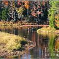 Canoeing In The Fall by Mariarosa Rockefeller