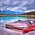 Canoes At Lake Patricia by Tara Turner